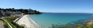 Panorama aan het strand van Trestrignel
