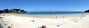 Panorama aan het strand van Trestraou