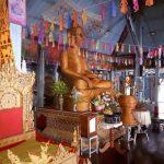 De bamboe Boeddha in de Wat Chong Klang tempel.