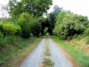 De oude spoorwegbedding Lannion - Perros Guirec is omgevormd tot een fiets- en wandelpad