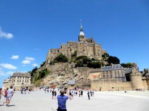 Mont Saint-Michel bij laag tij