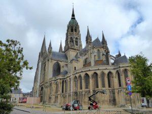 De prachtige gotische Notre-Dame kathedraal van Bayeux