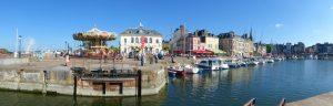 Panorama aan het Vieux Bassin van Honfleur
