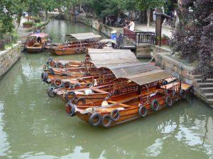 Boottocht op de kanalen (Tongli)
