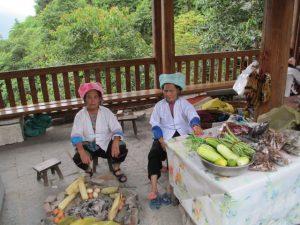 Vrouwen in de Zhuang klederdracht (Longji)