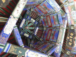 Detail wandelgang van het Zomerpaleis (Beijing)