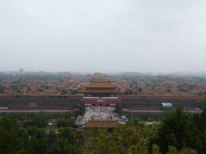 Zicht op de Verboden Stad vanop de Kolenheuvel (Beijing)