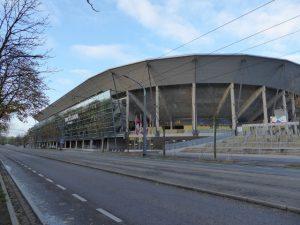 Het Dynamo Dresden stadion.