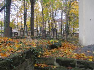 De oude joodse begraafplaats.