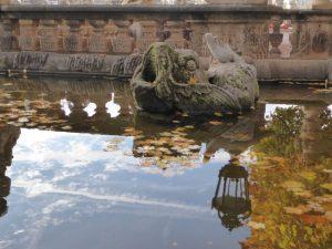 Barokke fontein van het Zwinger.