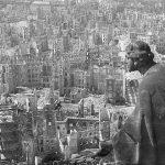 Het verwoeste oud stadcentrum van Dresden na de bombardementen en de vuurstorm van 1945.