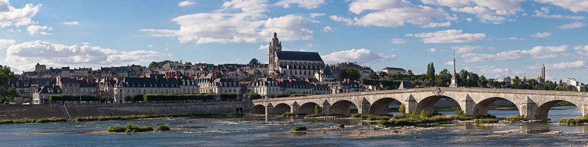 Panorama op Blois aan de Loire