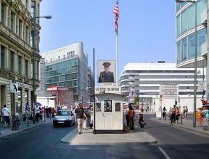Checkpoint Charlie in Berlijn, Duitsland