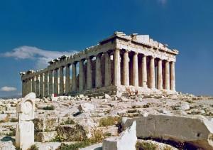 Parthenon op de Akropolis in Athene, Griekenland
