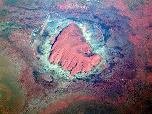 Luchtfoto van Uluru (Ayers Rock), Australië