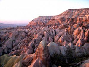 Tuf- en kalksteenformaties in Cappadocië, Turkije