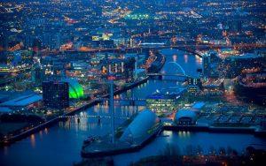 Glasgow by night, Schotland