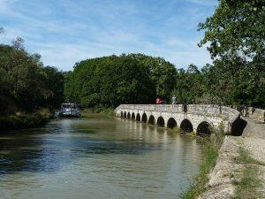 Argent Double aquaduct op Canal du Midi, Frankrijk