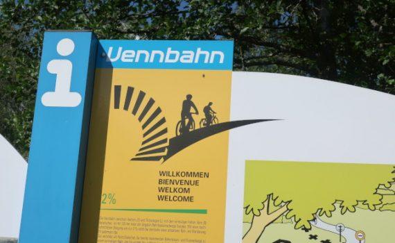 Infobord van de Vennbahn fietsroute